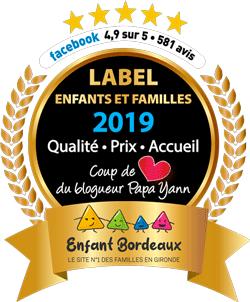 Label 2019 enfants et familles obtenu par Nounou Vadrouille