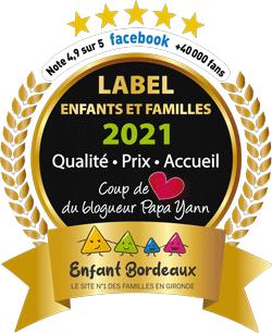 Label 2021 enfants et familles obtenu par Nounou Vadrouille