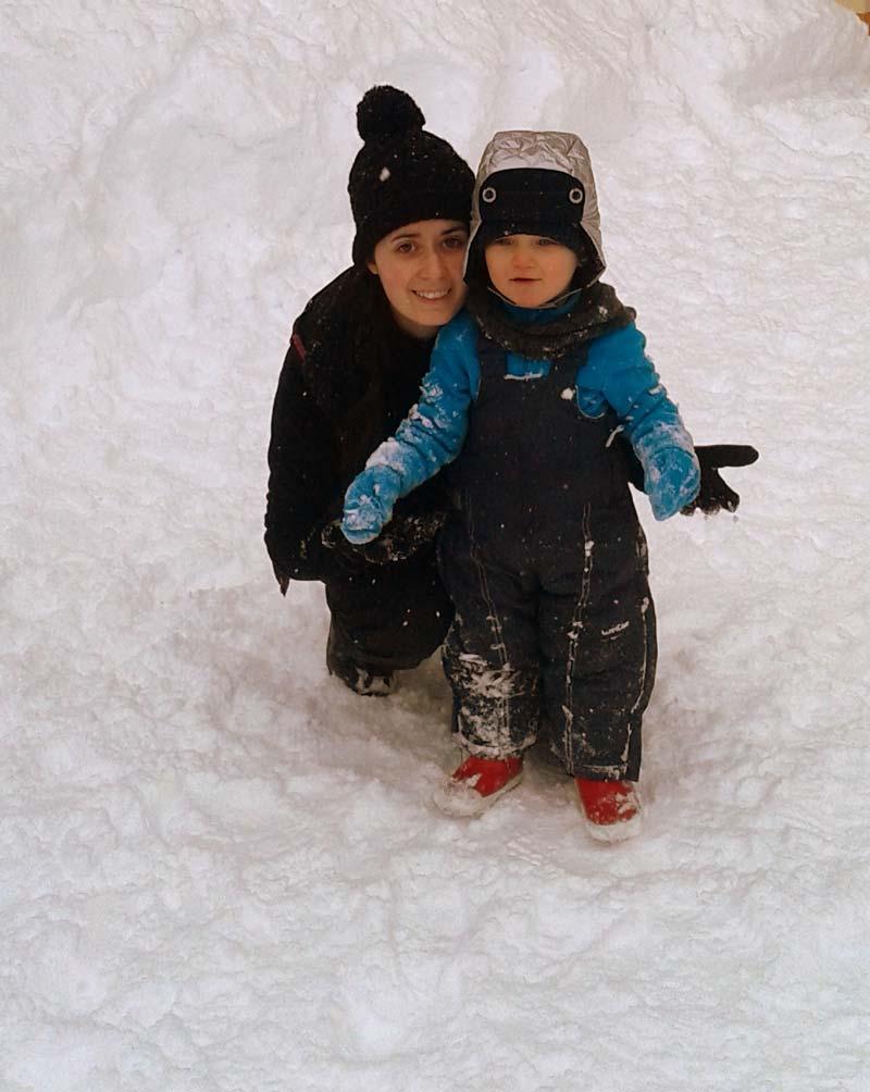 Sortie à la neige, garde d'enfant à Bordeaux